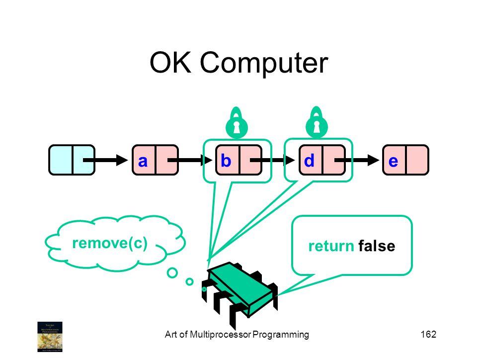 Art of Multiprocessor Programming162 OK Computer abde remove(c) return false
