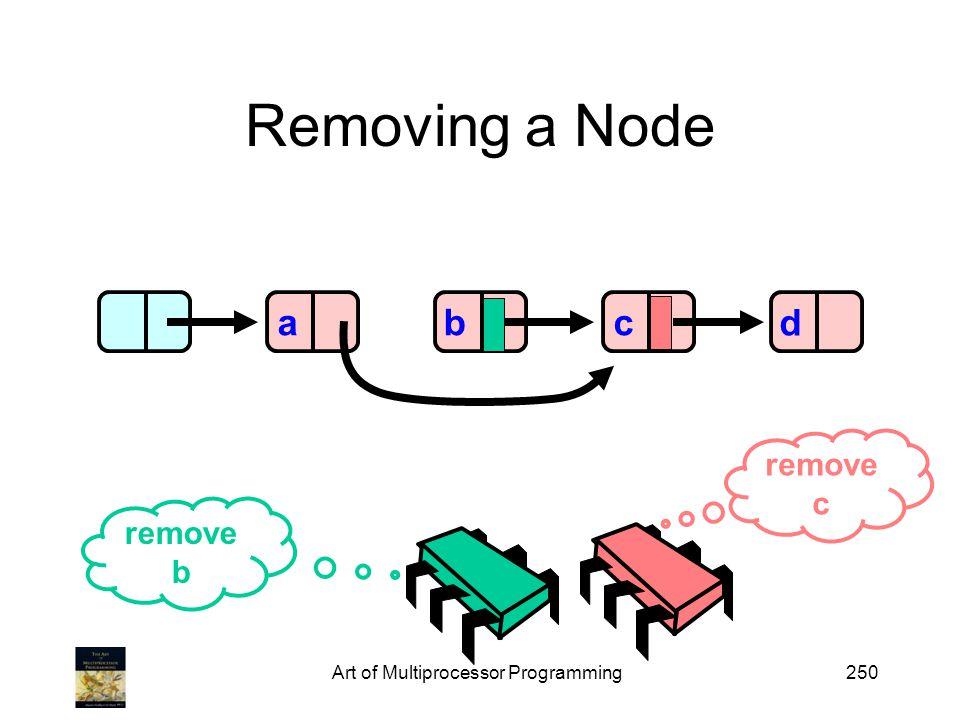 Art of Multiprocessor Programming250 Removing a Node abd remove b remove c c