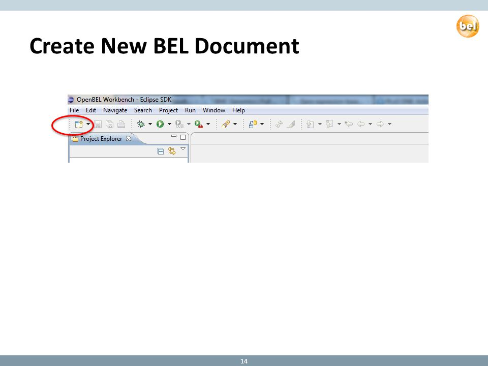 Create New BEL Document 14