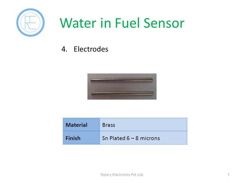 Water in Fuel Sensor 7Rotary Electronics Pvt Ltd.