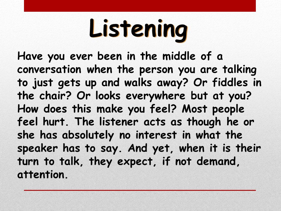 Are you a good listener or a bad listener? Lets take a look and see which one you think you are.