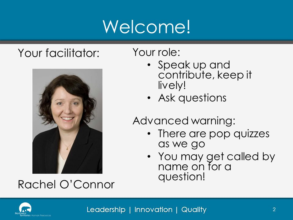 Leadership | Innovation | Quality Welcome.