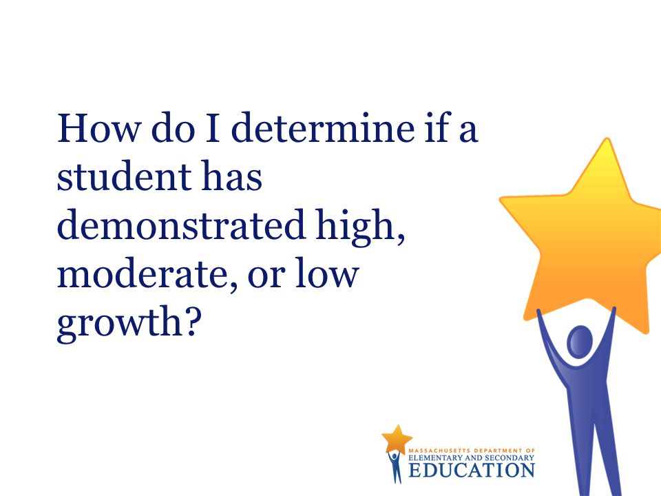 How do I determine if a student has demonstrated high, moderate, or low growth