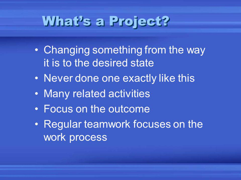 Whats a Project.