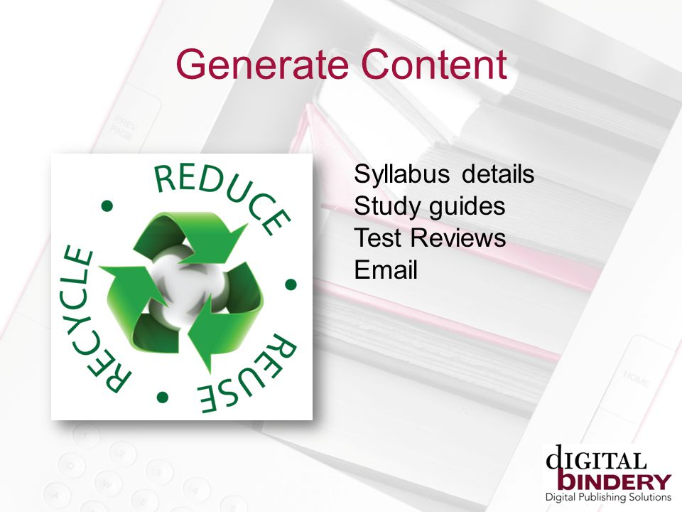 Generate Content Syllabus details Study guides Test Reviews Email
