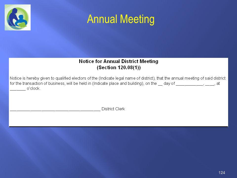 124 Annual Meeting