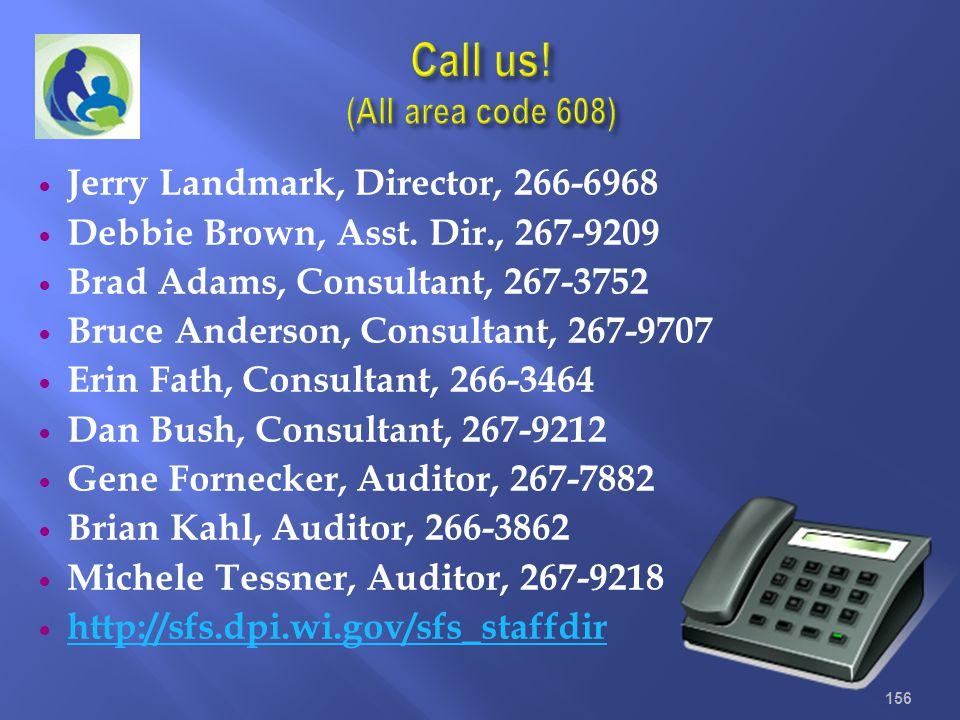 Jerry Landmark, Director, 266-6968 Debbie Brown, Asst. Dir., 267-9209 Brad Adams, Consultant, 267-3752 Bruce Anderson, Consultant, 267-9707 Erin Fath,