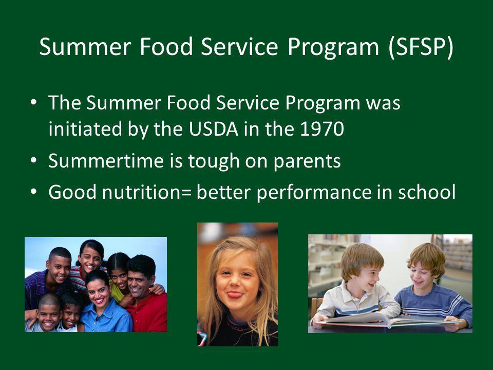 SFSP Video USDA training video http://www.youtube.com/watch?v=KkLGT0fRr8w