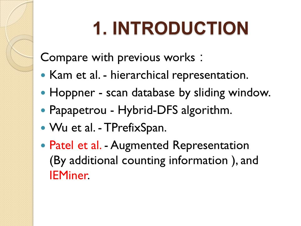 1. INTRODUCTION Compare with previous works Kam et al.