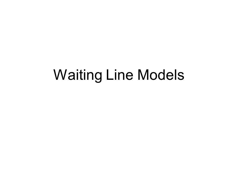 Waiting Line Models