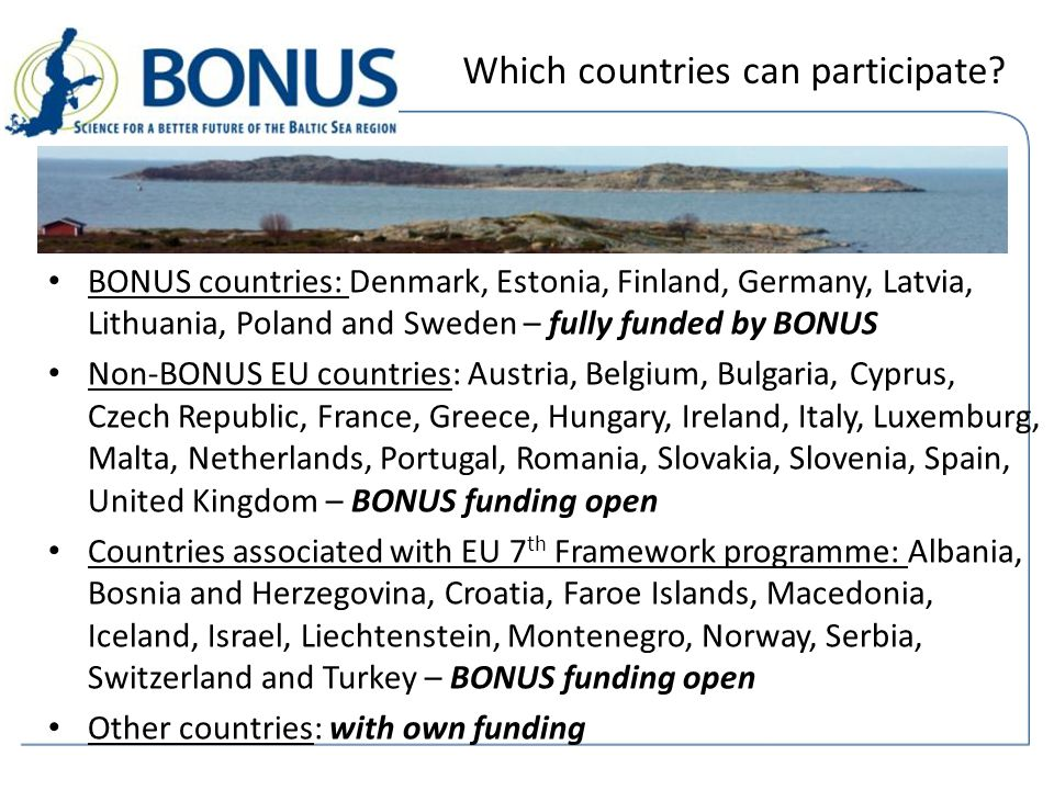 Which countries can participate.