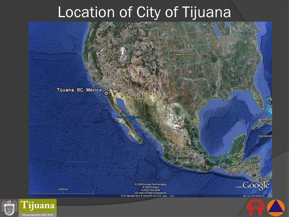 Location of City of Tijuana