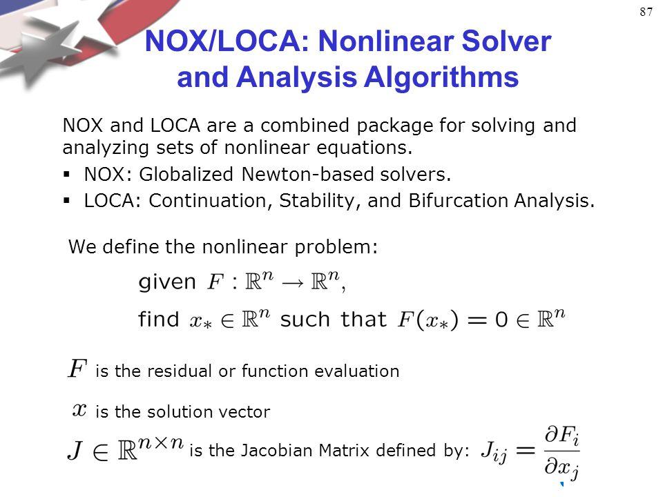 Nonlinear System Solves