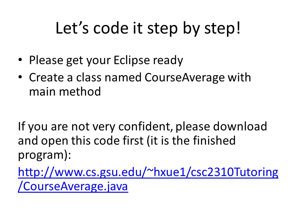 Lets code it step by step.