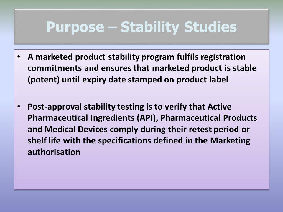 Stability Study….