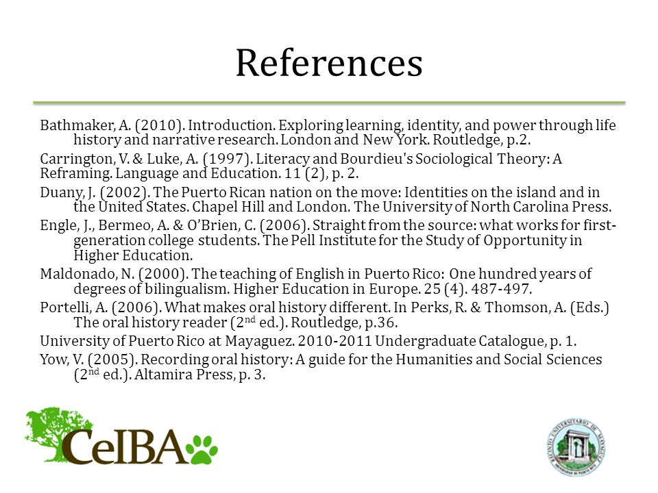References Bathmaker, A. (2010). Introduction.