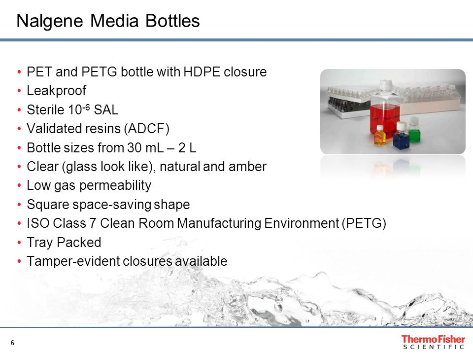 17 Plastic Packaging Bottles and Vials Landing page Page for packaging bottles and vials www.thermoscientific.com/packagingbottles
