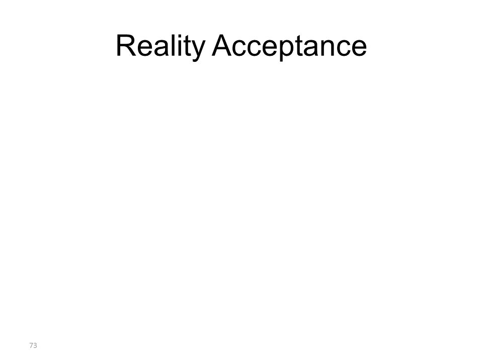 Reality Acceptance 73