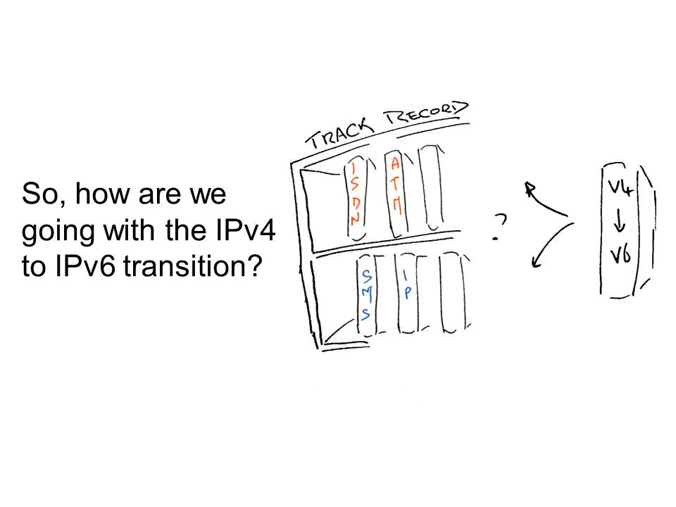 So, how are we going with the IPv4 to IPv6 transition