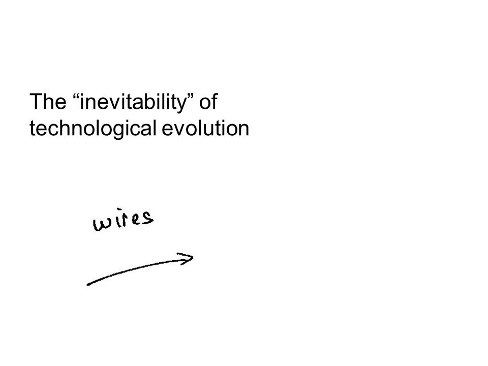 The inevitability of technological evolution