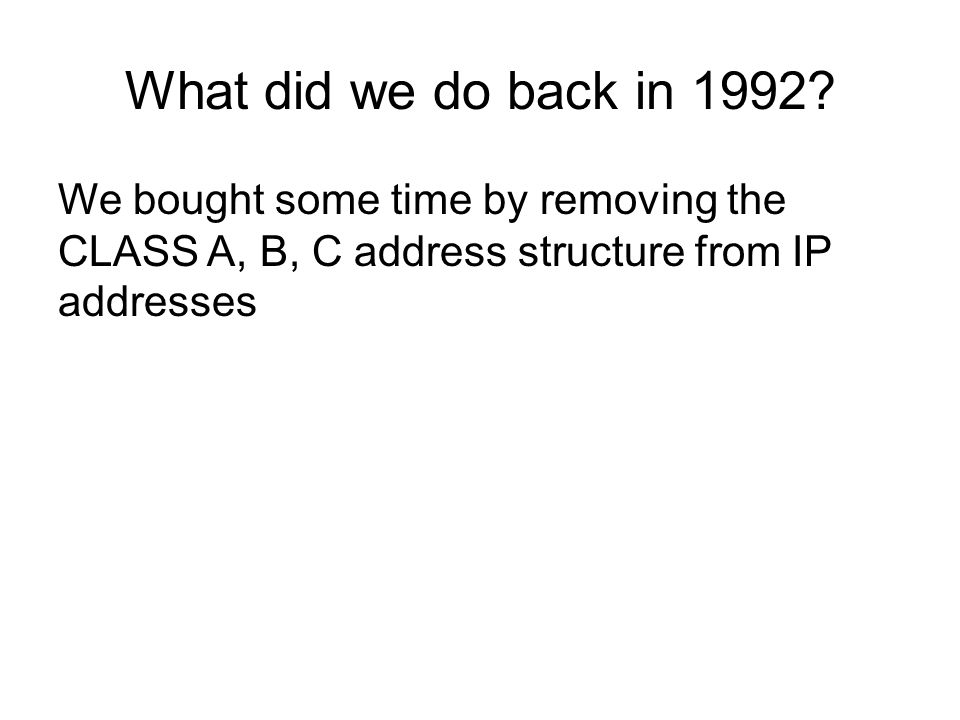 So, how are we going with the IPv4 to IPv6 transition?