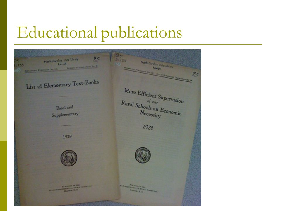 Educational publications