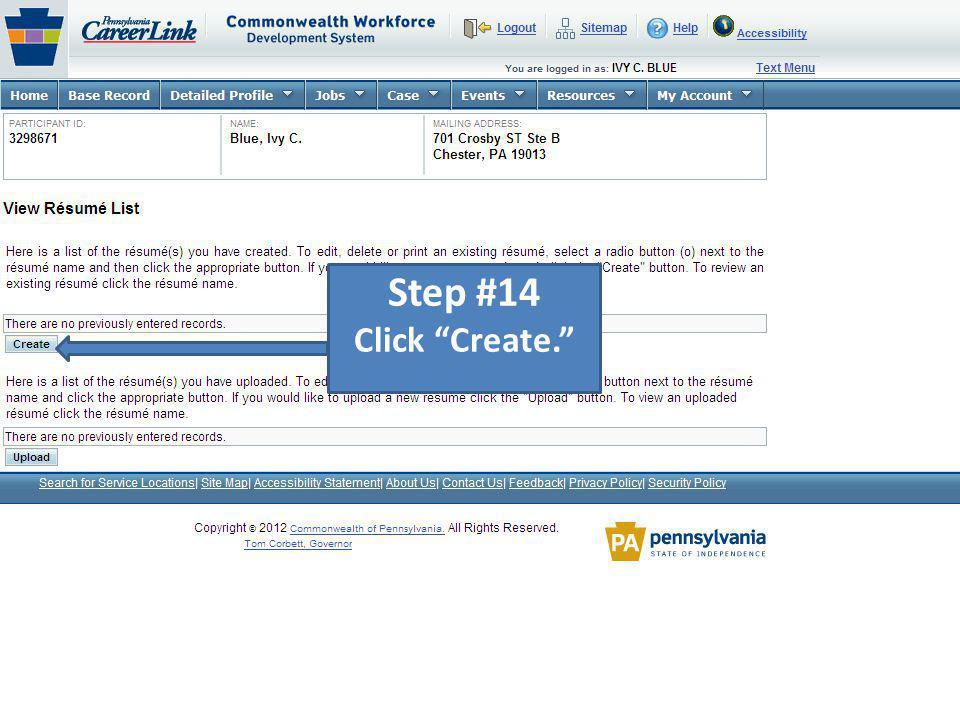 Step #14 Click Create.