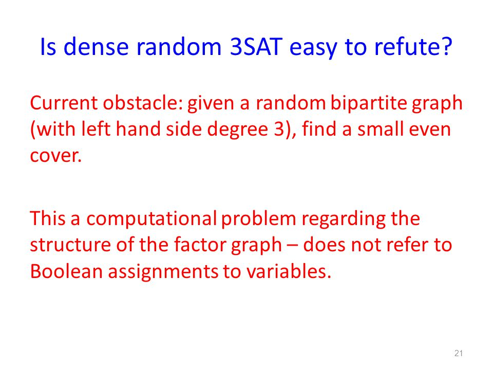 Is dense random 3SAT easy to refute.