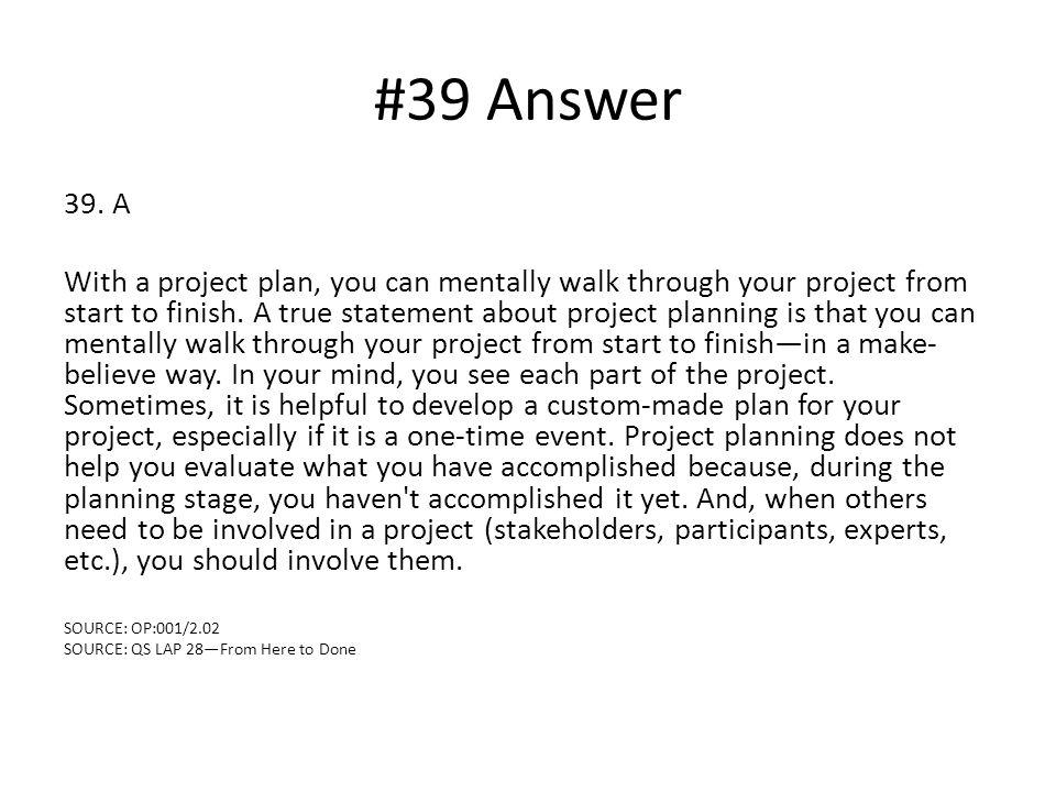 #39 Answer 39.