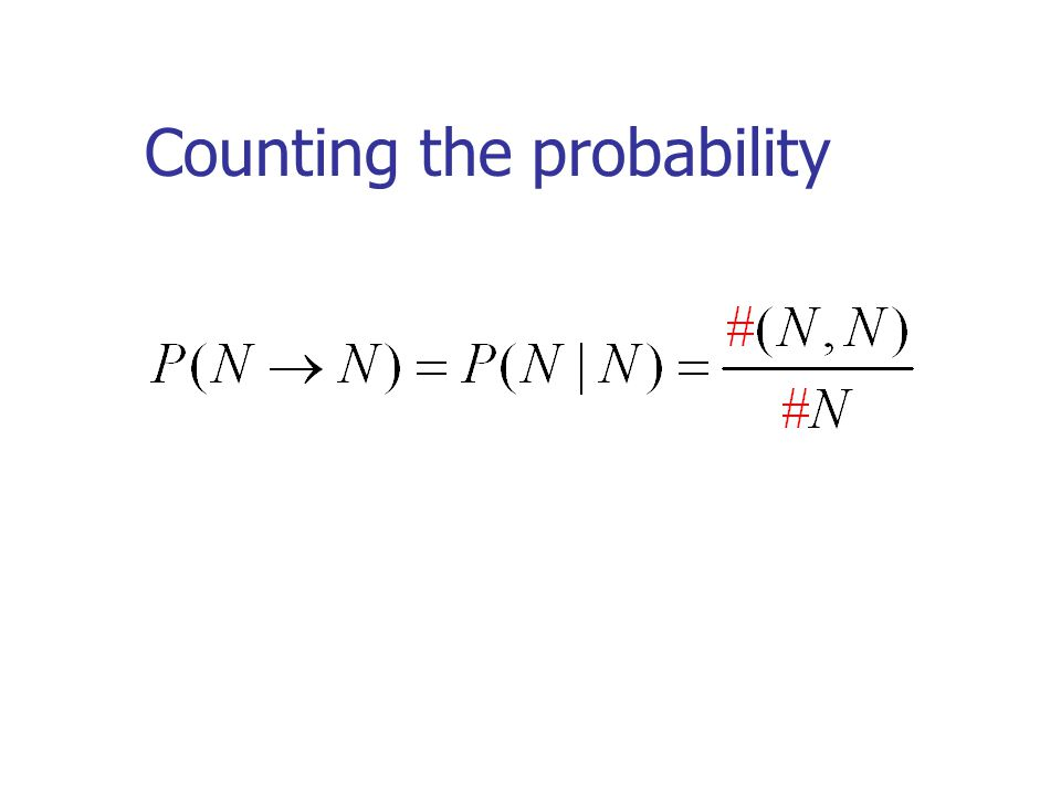 Counting the probability
