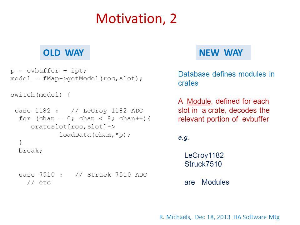 p = evbuffer + ipt; model = fMap->getModel(roc,slot); switch(model) { case 1182 : // LeCroy 1182 ADC for (chan = 0; chan < 8; chan++){ crateslot[roc,s