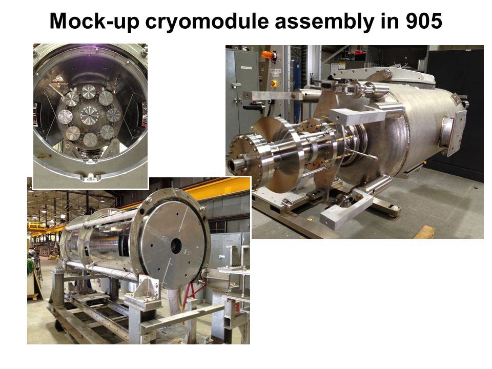 Mock-up cryomodule assembly in 905