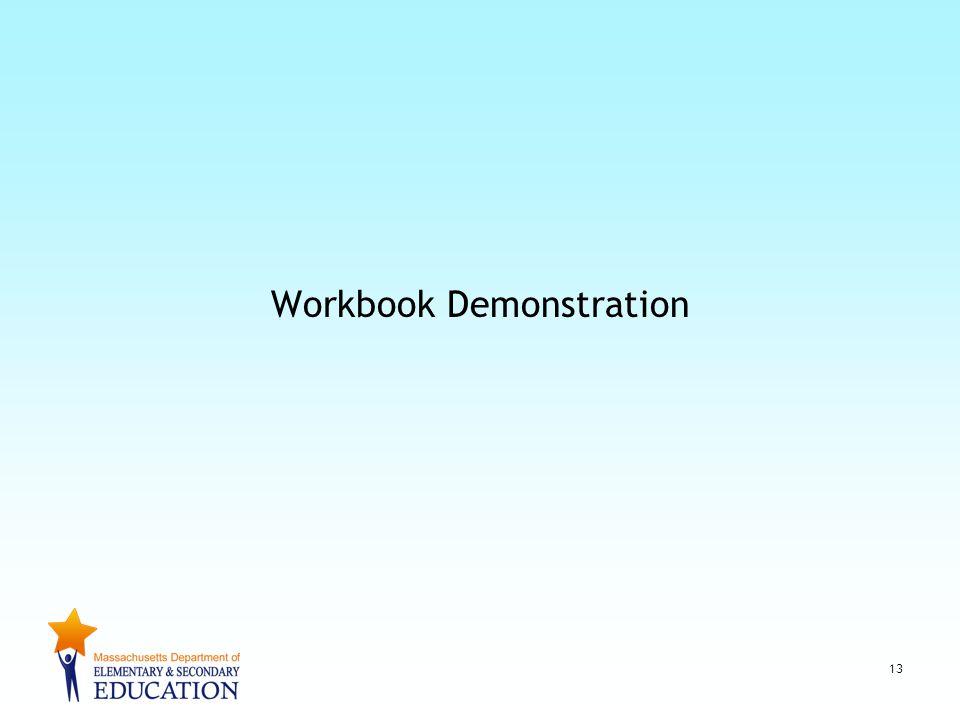 Workbook Demonstration 13