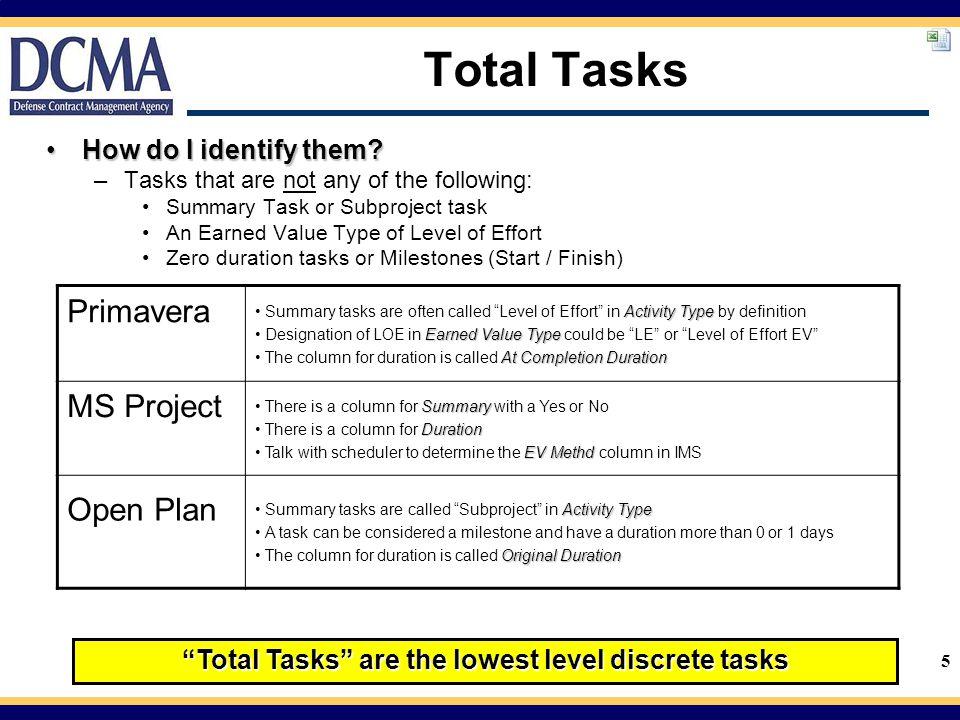 5 Total Tasks How do I identify them?How do I identify them.