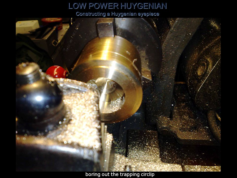 LOW POWER HUYGENIAN Constructing a Huygenian eyepiece parting 0 .864 length of 2 .5 OD x 16swg tube trapped on mandrel using masking tape