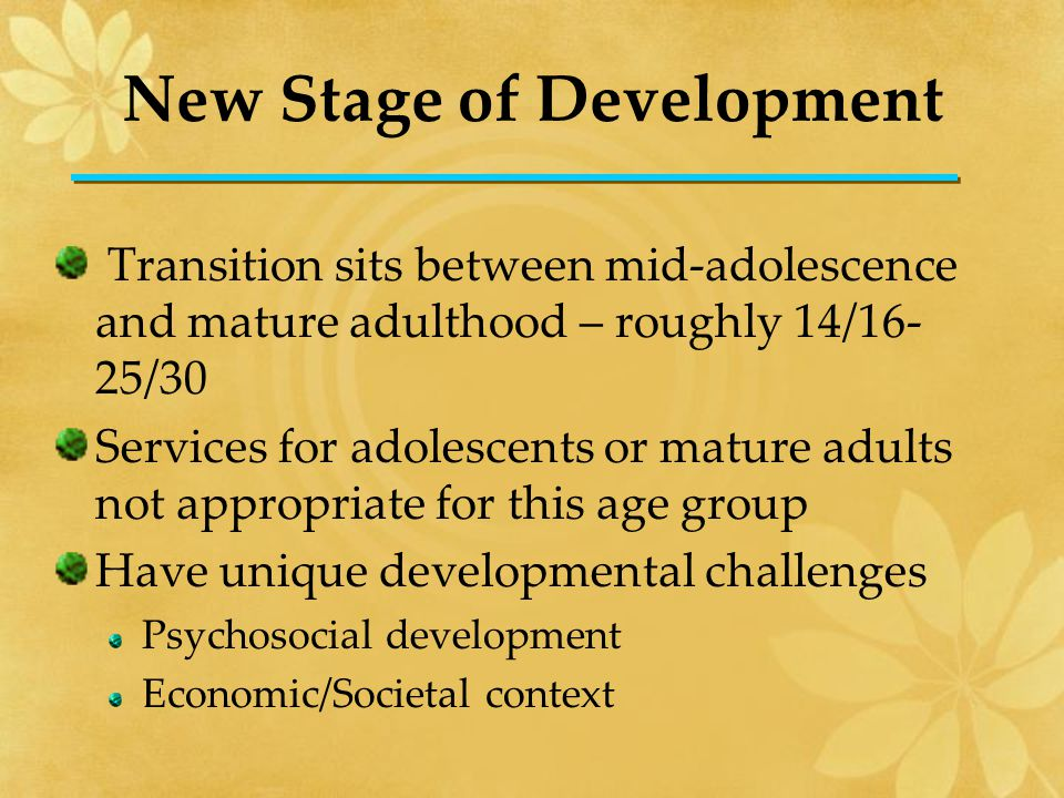 Psychosocial Development Psychosocial Development Adolescence to Adulthood Developmental change on every front