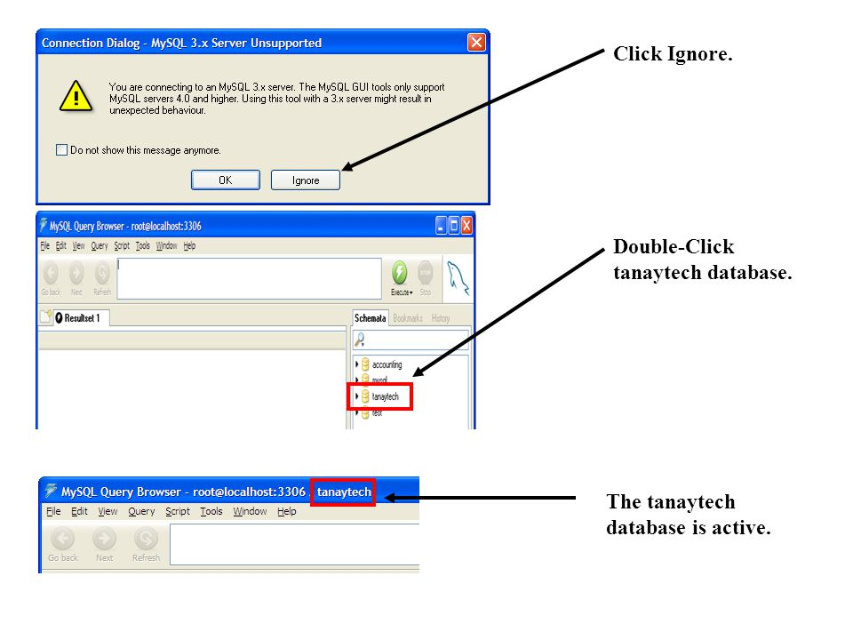 Double-click Accountability table.At the command window.