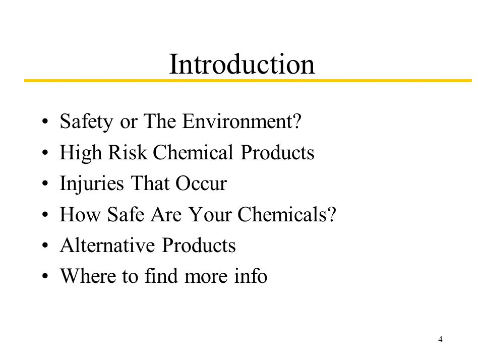 4 Introduction Safety or The Environment.