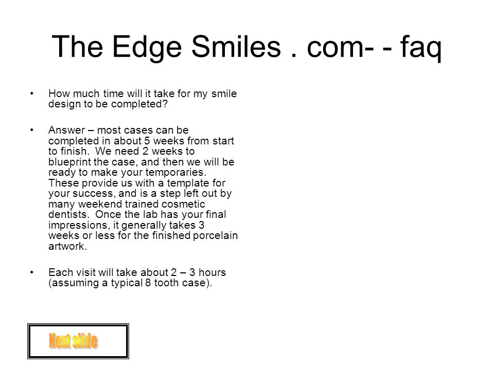 The Edge Smiles.com- - faq How much will it cost.