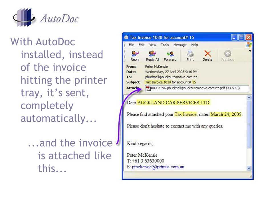 XML uses tags like invoice to encode a text string with meaning AutoDoc does not use XML, but is based on the same metadata principle – text is encoded so AutoDoc knows when, for example, a document is an invoice AutoDoc uses colour to encode metadata