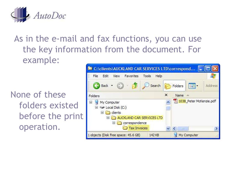 As in the  and fax functions, you can use the key information from the document.