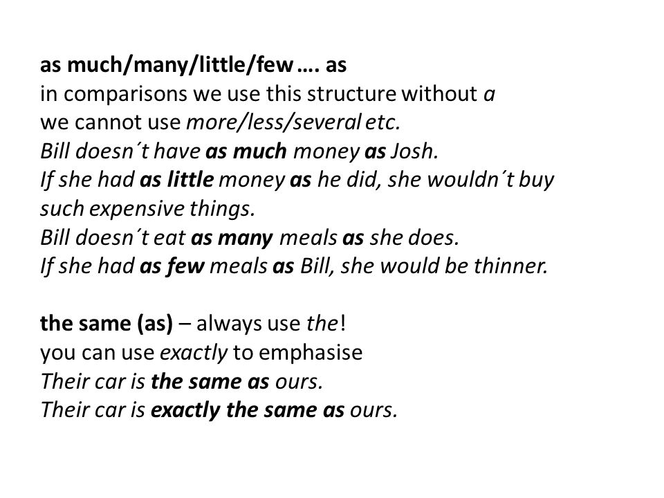 repeating comparatives – is used to say that sth is changing (increasing or decreasing) all the time, usually with the Present Continuous a)comparative adj+and+comparative adj = changing all the time: She was getting more and more nervous.
