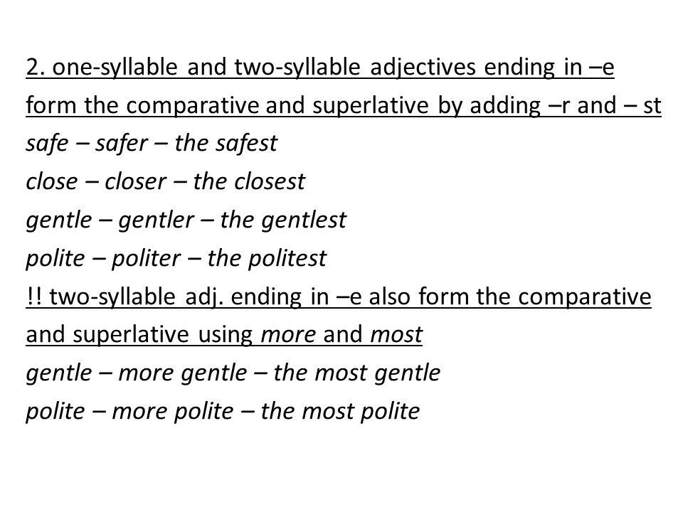 3.one-syllable adj.
