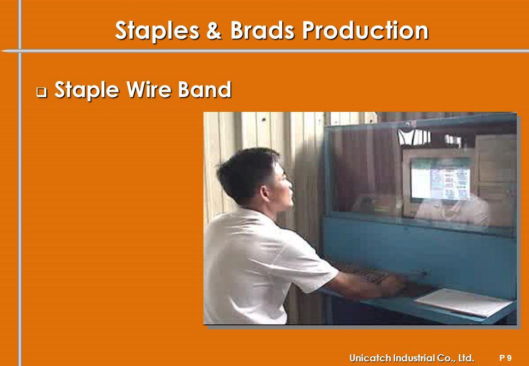 P 9 Unicatch Industrial Co., Ltd. Staples & Brads Production Staple Wire Band Staple Wire Band