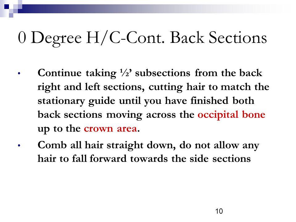 10 0 Degree H/C-Cont.