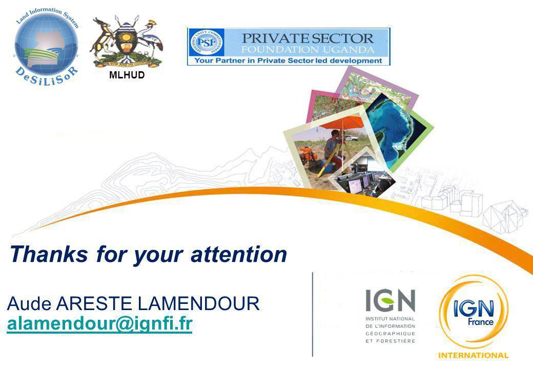 MLHUD Thanks for your attention Aude ARESTE LAMENDOUR alamendour@ignfi.fr