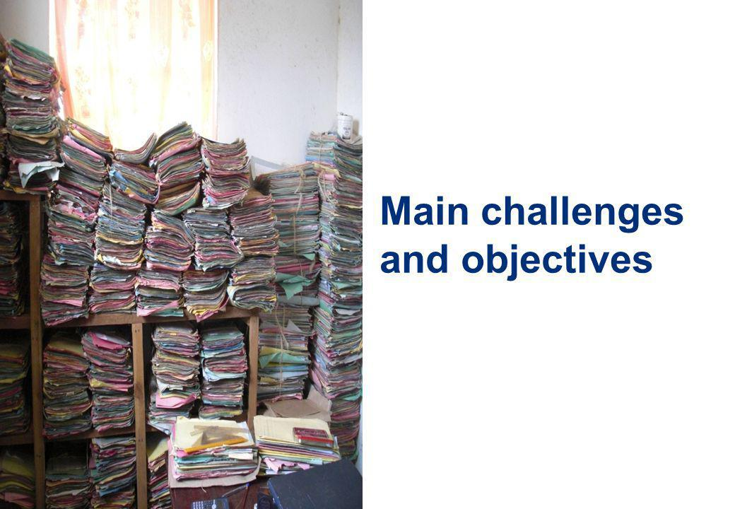 33 Main challenges and objectives
