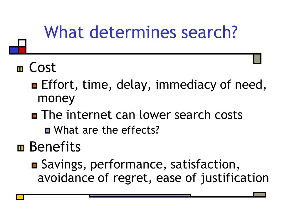 What determines search.