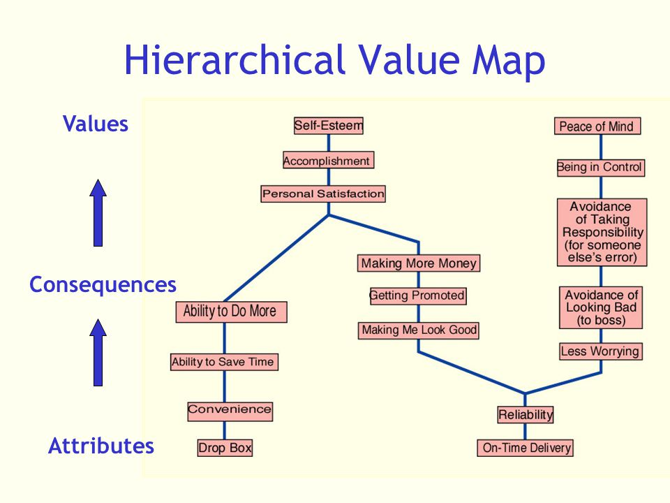Hierarchical Value Map Values Consequences Attributes