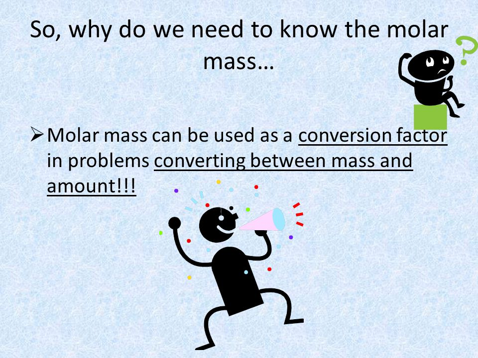 Converting Number of Particles to Mass To convert from number of particles to mass, you must use a two-step process: First, convert number of particles to amount in moles using Avogadros number.